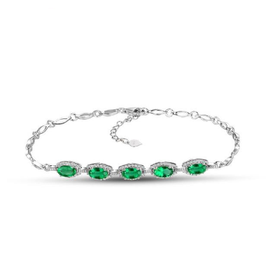 18Kt White Gold 2.18Ct Emerald Bracelet - Medusa Jewels