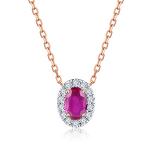 14K Rose Gold 0.46Ct Ruby Pendant
