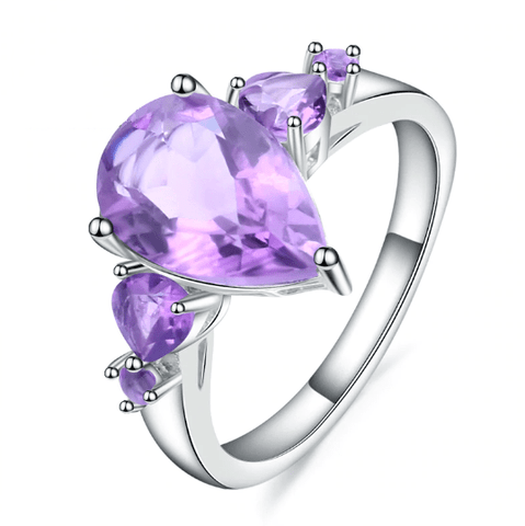 925 Sterling Silver 3.63Ct Amethyst Gemstone Ring - Medusa Jewels