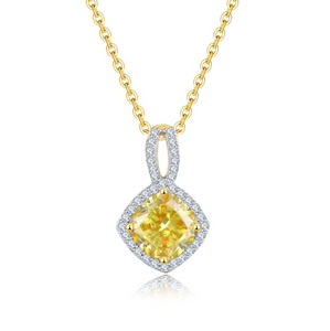 14K Yellow Gold Yellow Moissanite Pendant