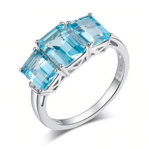 10K White Gold 3.27Ct Aquamarine Ring