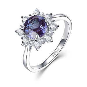 925 Sterling Silver 2Ct Alexandrite Ring