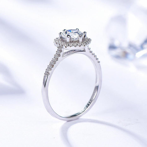 925 Sterling Silver 0.8Ct Moissanite Ring