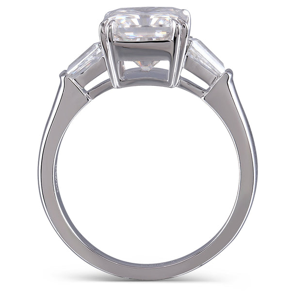14K White Gold 4Ct Radiant Moissanite Ring