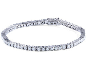 14K Gold 4.08Ct Moissanite Tennis Bracelet - MEDUSA JEWELS