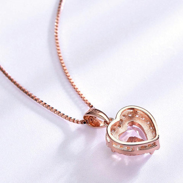 925 Sterling Silver Morganite Pendant - Medusa Jewels