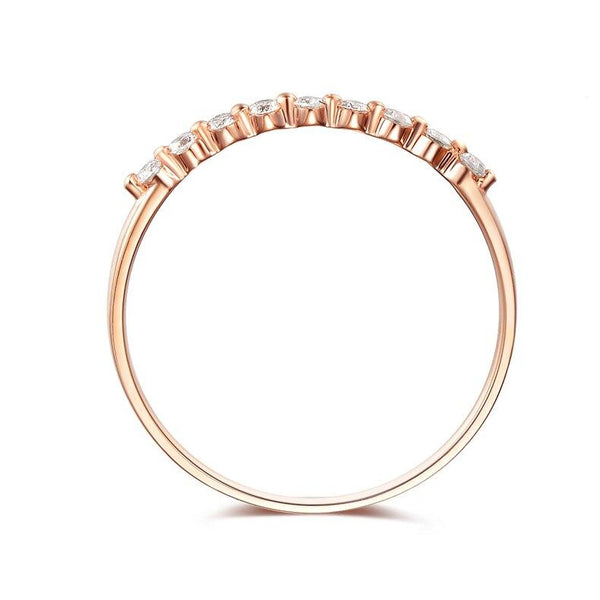 18K Rose Gold (Au750) 0.16 CT Diamond Ring - Medusa Jewels
