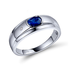 18K White Gold Sapphire Ring - Medusa Jewels