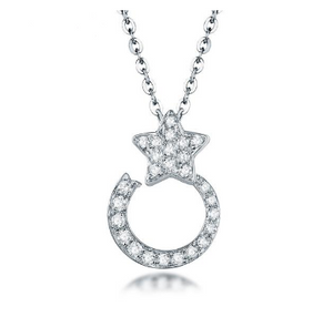18K White Gold 0.26Ct Diamonds Pendant - Medusa Jewels