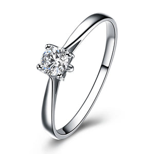 18K White Gold 0.20Ct Diamond Engagement Ring - Medusa Jewels