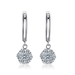 18K White Gold Natural Diamond 0.41CT Earrings - Medusa Jewels