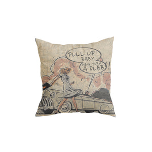 NYC Dubb throw pillow