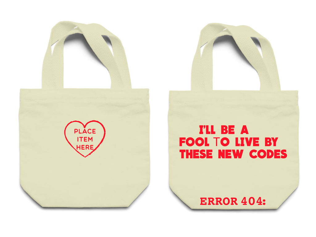 """Place item here"" Canvas Tote Bag"