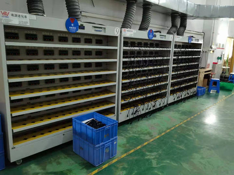 Lots of power supplies being tested