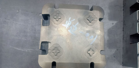 Base portion of case mould partially finished