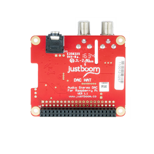 JustBoom DAC HAT for the Raspberry Pi