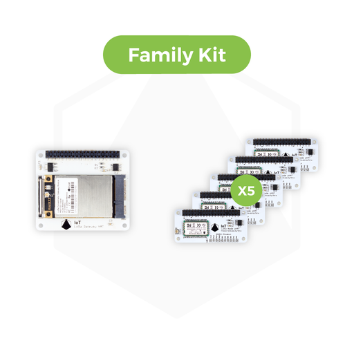 IoT LoRa Family Kit - 10 x IoT micro:bit LoRa Node pHAT and 1 x IoT LoRa Gateway HAT for Raspberry Pi