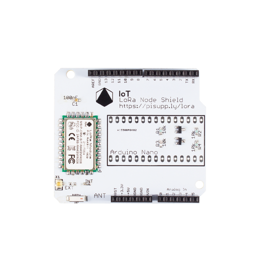 IoT LoRa Node Shield for Arduino (868MHz/915MHz)