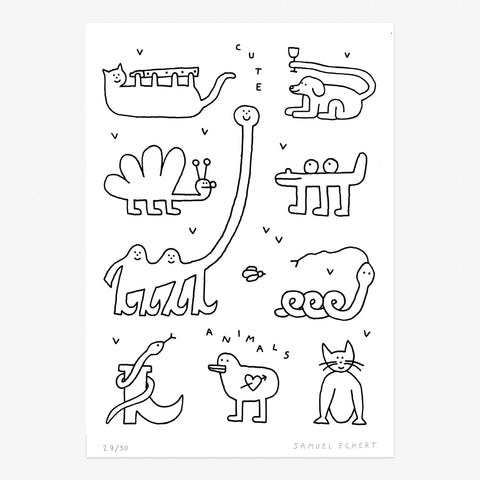 Cute animals A4