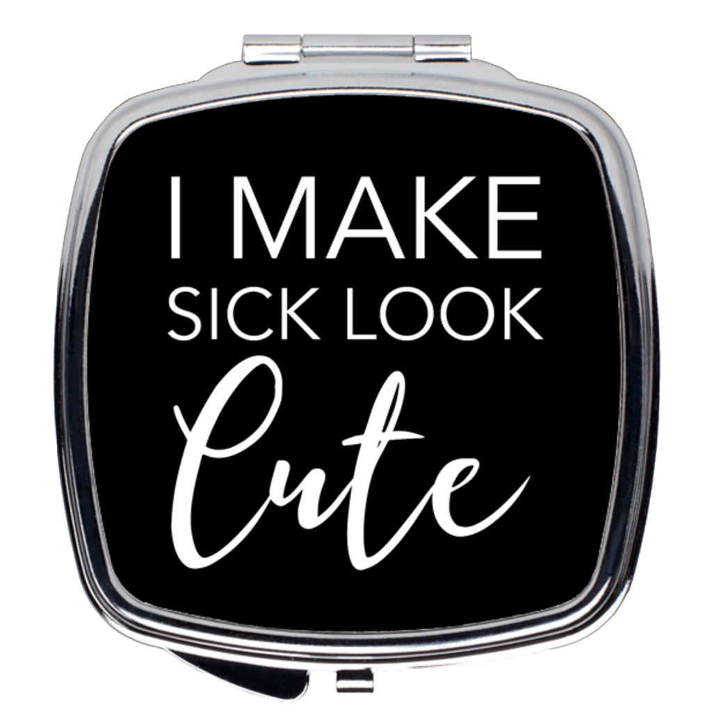 Sick and Cute Compact Mirror in Black