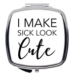 Sick and Cute Compact Mirror in White