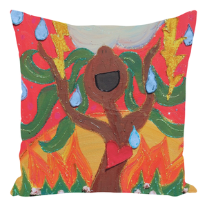 Singing Tree Throw Pillow
