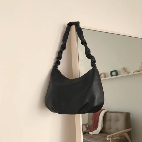 Ruched Shoulder Bag (Comes in 5 colors) - Noir.