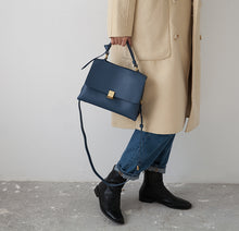 Load image into Gallery viewer, Meghan Leather Briefcase - Noir.