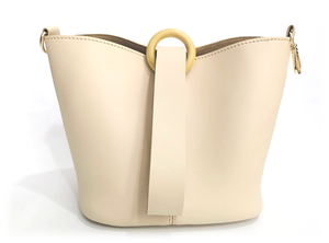 Hana Bucket Bag in Cream - Noir.