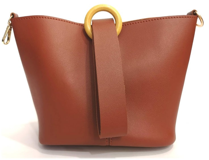 Hana Bucket Bag in Sienna - look-bags