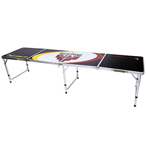 "B.P.D. Official 8 Foot Regulation Sized Beer Pong Table (Black ""Beer Pong"" Design)"