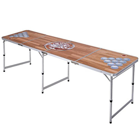 B.P.D. Official 8 Foot Regulation Sized Beer Pong Table (Classic Wood Design)