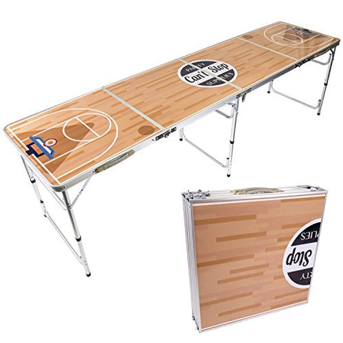 B.P.D. Official 8 Foot Regulation Sized Beer Pong Table (Ballin' Design)