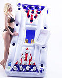 B.P.D. 6 Foot Inflatable Floating Beer Pong Table Float with Cooler (USA Flag Design)