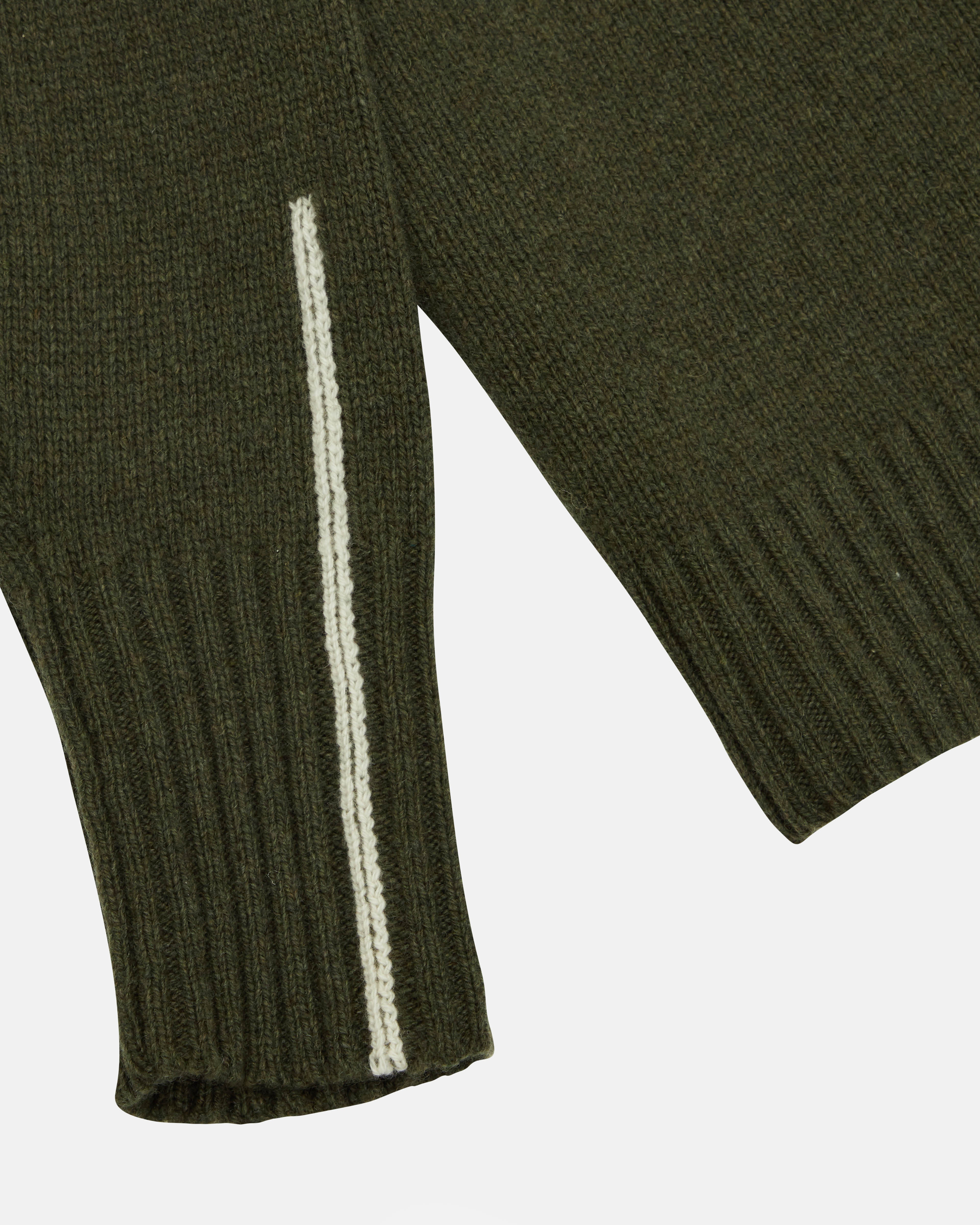 Recycled Cashmere Sweater V 05 - Forest