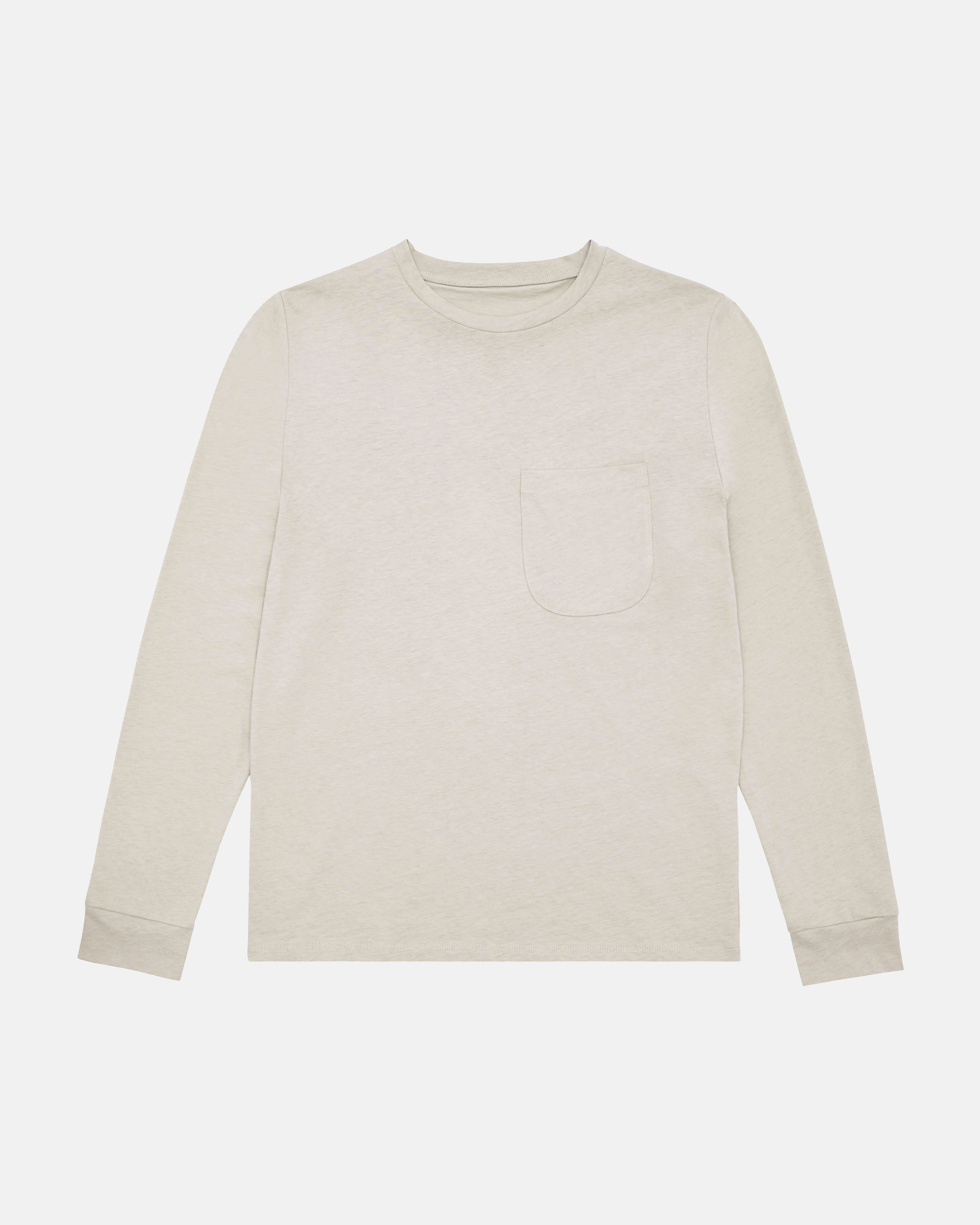 Long Sleeve Pocket T-Shirt - Oat