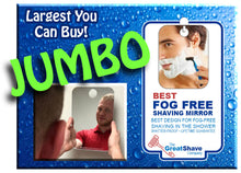 "Load image into Gallery viewer, Jumbo Fog-Free Shaving Mirror 7.5"" x 11"""