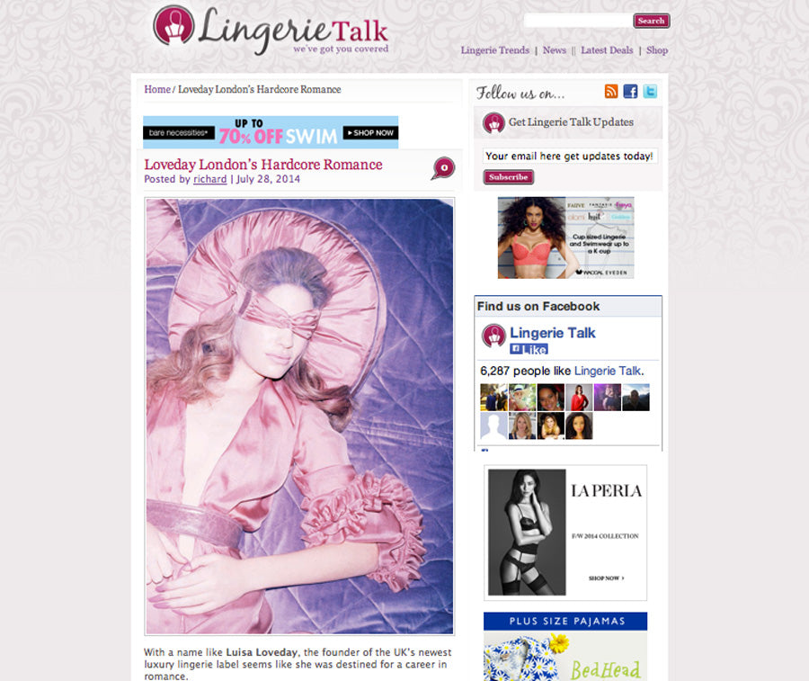 LINGERIE TALK - JULY 2014