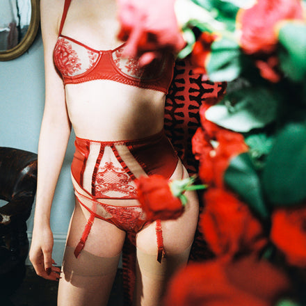 Le Rouge Suspender Belt