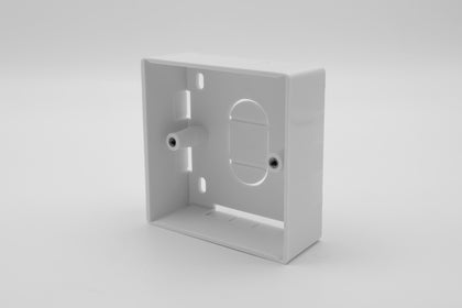 86 x 86 x 32mm - Single Gang Back Box - White - Netbit UK