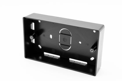 Double Gang Back Box - 32mm deep - Black