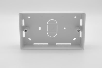 Double Gang Back Box - 32mm deep - White - Netbit UK