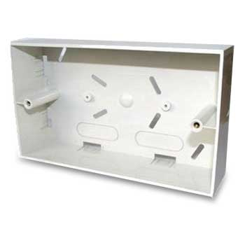 Double Gang Back Box - 46mm deep - White - Netbit UK