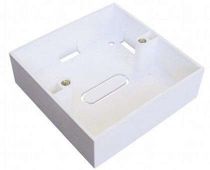 86 x 86 x 46mm - Single Gang Back Box - White - Netbit UK