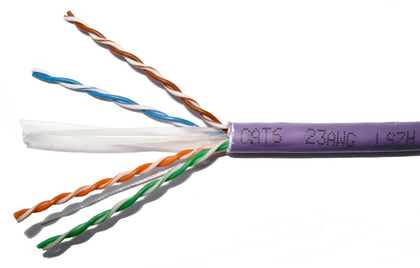 305M CAT6 UTP SOLID CABLE (LSZH) VIOLET - Netbit UK
