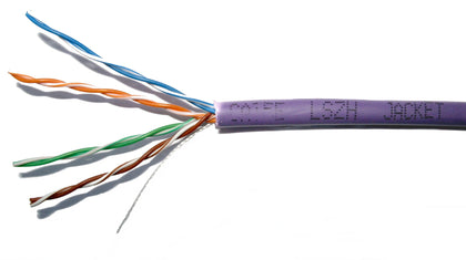 305M CAT5E UTP SOLID CABLE (LSZH) VIOLET - Netbit UK
