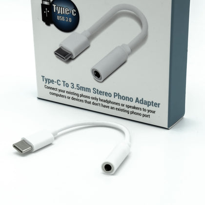 USB3.0 Type-C to 3.5mm Audio Phono Jack Adapter - Netbit UK