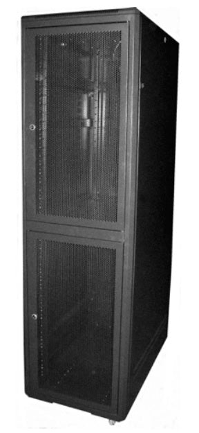 42U Colocation Enclosure 600 X 1000 Double Section Cabinet - Floor Standing Data Rack