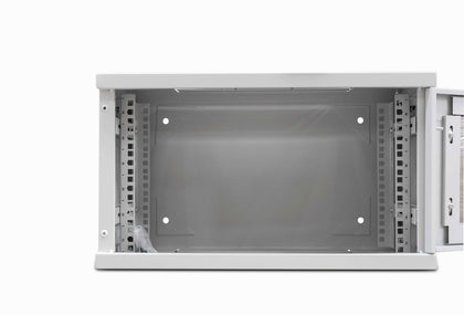 6u 300mm Deep Data / Comms Wall Cabinet / Rack - Grey - Netbit UK