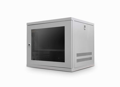 9u 550mm Deep Wall Data Cabinet - Grey - Netbit UK